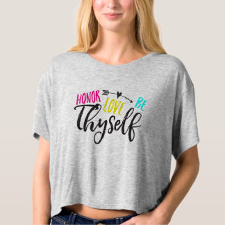 Honor, Love & Be Thyself Box Crop T-Shirt