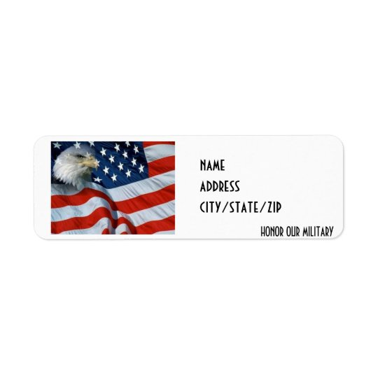"""HONOR OUR MILITARY"" ADDRESS LABEL"