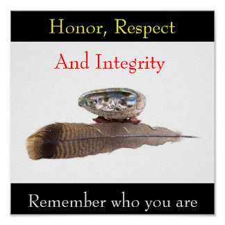 Honor, Respect, And Integrity, Remember... Poster