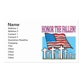 Honor The Fallen Pack Of Standard Business Cards