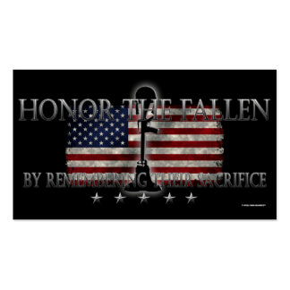 Honor The Fallen Business Card Template