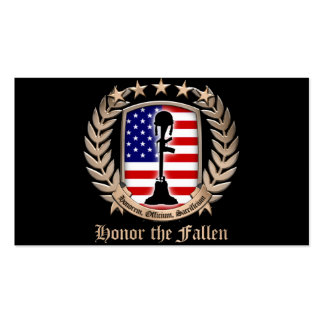 Honor The Fallen - Crest Business Card Template