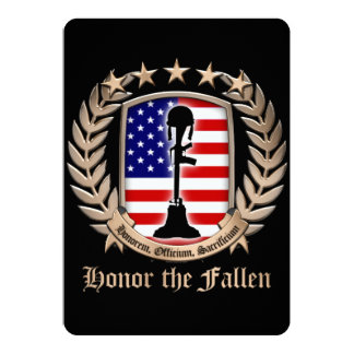 Honor The Fallen - Crest 13 Cm X 18 Cm Invitation Card