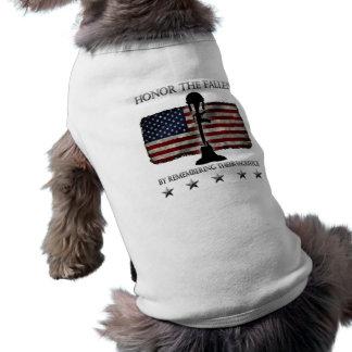 Honor The Fallen Sleeveless Dog Shirt