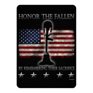 Honor The Fallen 13 Cm X 18 Cm Invitation Card