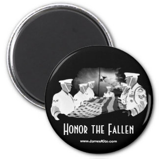 Honor the Fallen 6 Cm Round Magnet