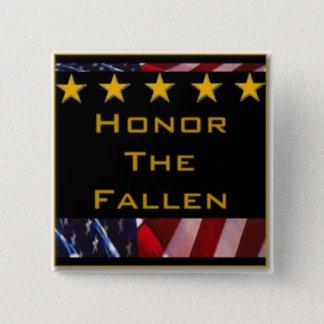 Honor the Fallen Military Tribute 15 Cm Square Badge