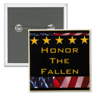 Honor the Fallen Military Tribute 15 Cm Square Badge