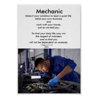 Honor the trades-MECHANIC-1-career education Poster
