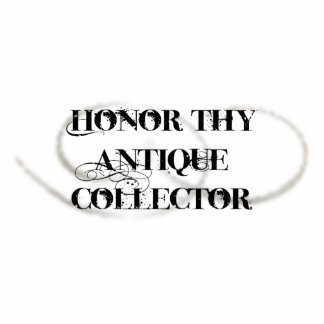 Honor Thy Antique Collector Standing Photo Sculpture