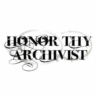 Honor Thy Archivist Standing Photo Sculpture