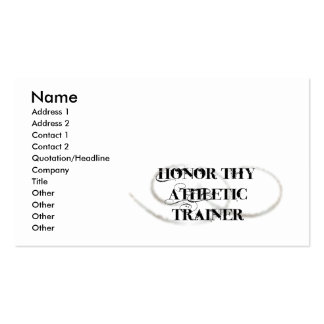 Honor Thy Athletic Trainer Business Cards