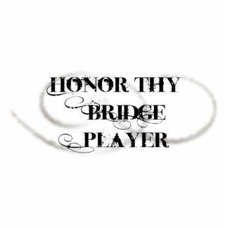 Honor Thy Bridge Player Acrylic Cut Outs