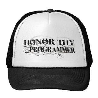 Honor Thy Programmer Cap