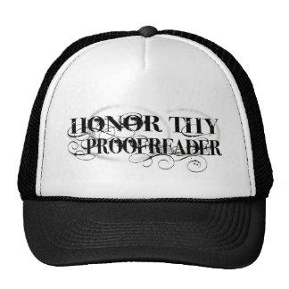 Honor Thy Proofreader Cap