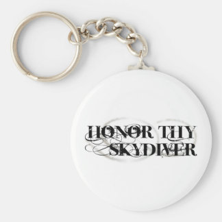 Honor Thy Skydiver Basic Round Button Key Ring