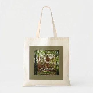 Honor your limits tote bag