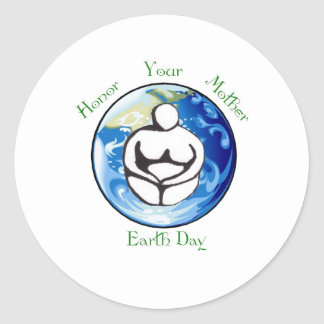 Honor your mother Earth Day Round Sticker