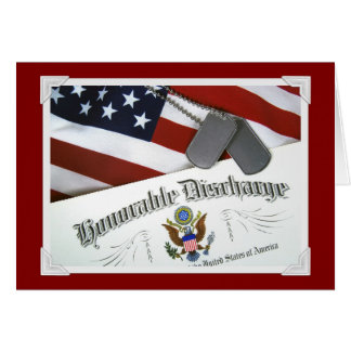 Honorable Discharge Greeting Card