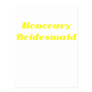 Honorary Bridesmaid Post Card