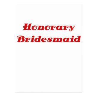 Honorary Bridesmaid Postcards