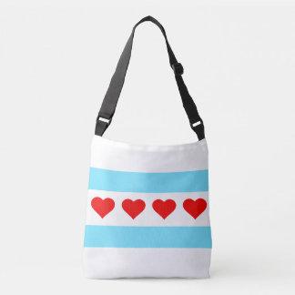 Honorary Chicago Heart Flag Crossbody Bag