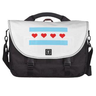 Honorary Chicago Heart Flag Laptop Bag