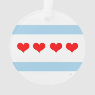 Honorary Chicago Heart Flag Ornament