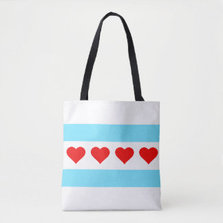 Honorary Chicago Heart Flag Tote