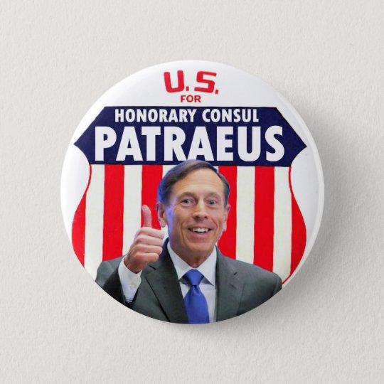 Honorary Consul David Patraeu 6 Cm Round Badge