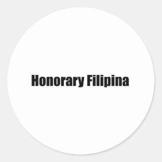 Honorary Filipino a Round Sticker