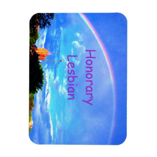 Honorary Lesbian Rainbow magnet