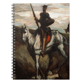 Honore Daumier - Don Quixote in the Mountains Spiral Notebooks