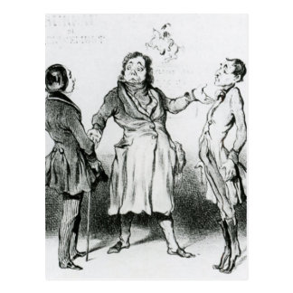 Honore Daumier: Robert Macaire Bureau of Military Postcard