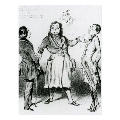 Honore Daumier: Robert Macaire Bureau of Military Post Card