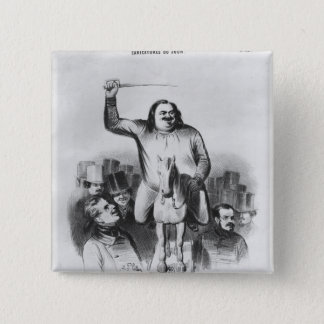 Honore de Balzac 15 Cm Square Badge