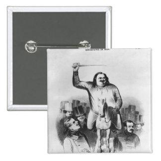 Honore de Balzac 15 Cm Square Badge