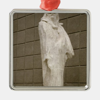Honore de Balzac  1897 Silver-Colored Square Decoration
