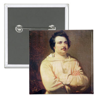 Honore de Balzac  in his Monk's Habit, 1829 15 Cm Square Badge