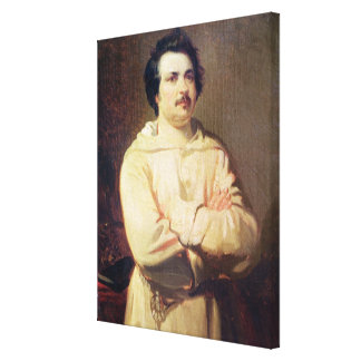 Honore de Balzac  in his Monk's Habit, 1829 Canvas Print