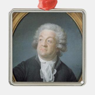 Honore Gabriel Riqueti  Count of Mirabeau, 1789 Silver-Colored Square Decoration