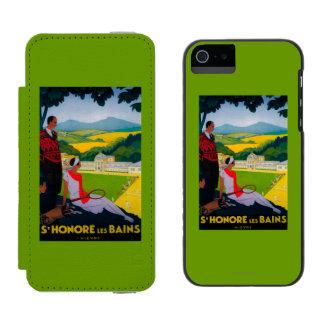 Honore Les Bains Vintage PosterEurope Incipio Watson™ iPhone 5 Wallet Case