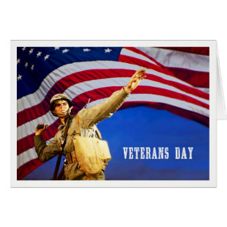 Honoring all who served. Veterans Day Custom Cards