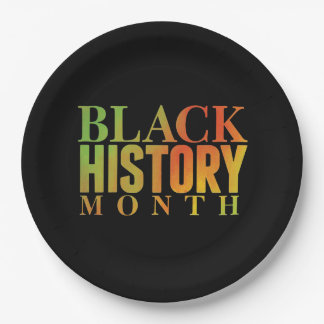 Honoring Decades BHM Party Paper Plates