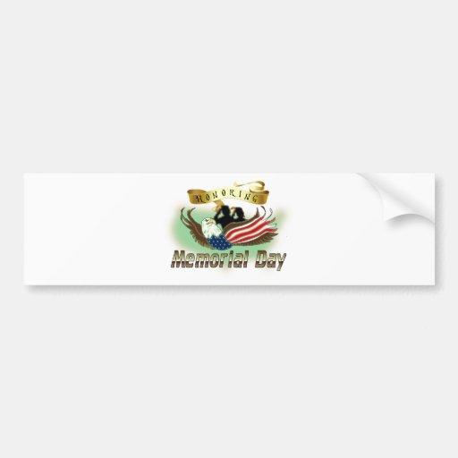 Honoring Memorial Day Bumper Sticker
