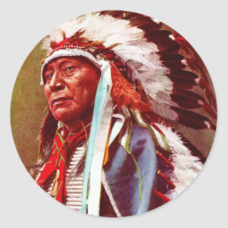 Honoring Native American History Classic Round Sticker