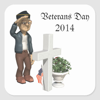 Honoring our Veterans - Square Stickers