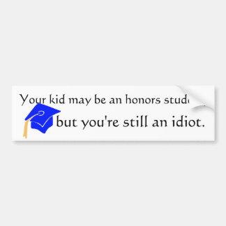 honors student bumper sticker
