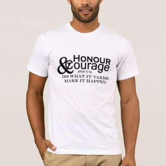 Honour & Courage Mens Basic Fitted T-Shirt