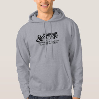 Honour & Courage Mens Basic Grey Hoodie
